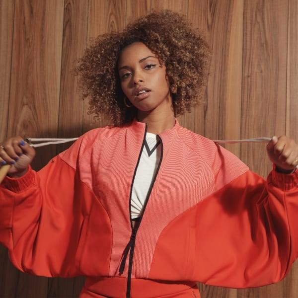 Adidas Karlie Kloss Cover-Up Shirt - Orange