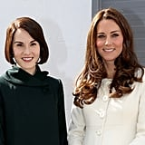 Michelle Dockery and Kate Middleton