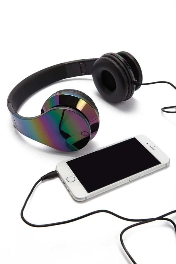 Forever 21 Iridescent Oil-Slick Headphones