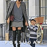 Miranda Kerr and Flynn Bloom walked together in NYC.