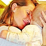 Gisele Bündchen and baby Vivian cuddled for the camera. Source: Instagram user giseleofficial