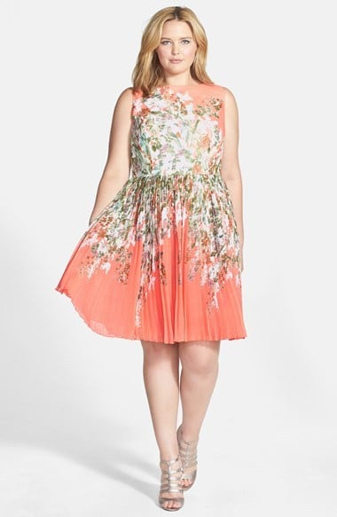 Adrianna Papell Plus-Size Floral Dress