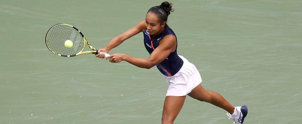 Watch Leylah Fernandez Practice Tennis Stability Exercises