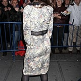 Katie Holmes wore a Bottega Veneta dress at the Dead Accounts after party in NYC.