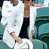 Meghan Markle 2019 Wimbledon Striped Blazer Dupes