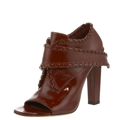 The patent finish and whip-stitched detail will lend a sexy, tough touch to any ensemble. Alexander Wang Cecilia Bootie ($575)