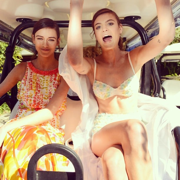 Models Montana and Gabby have some fun on Hamilton Island