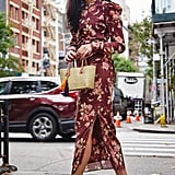 Buy a Long-Sleeved Floral Midi Dress