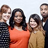 Ahna O'Reilly, Octavia Spencer, Melonie Diaz, and Michael B. Jordan  were all smiles when promoting Fruitvale.