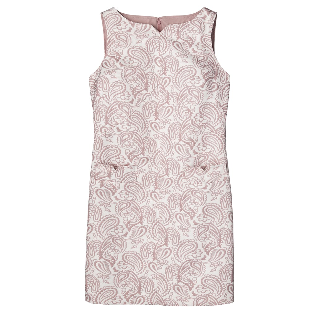Blush Floral Jacquard Shift Dress with Pockets ($40)