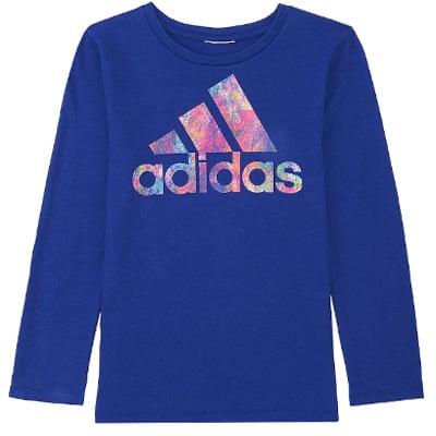Girls' adidas Splatter Graphic Logo Tee