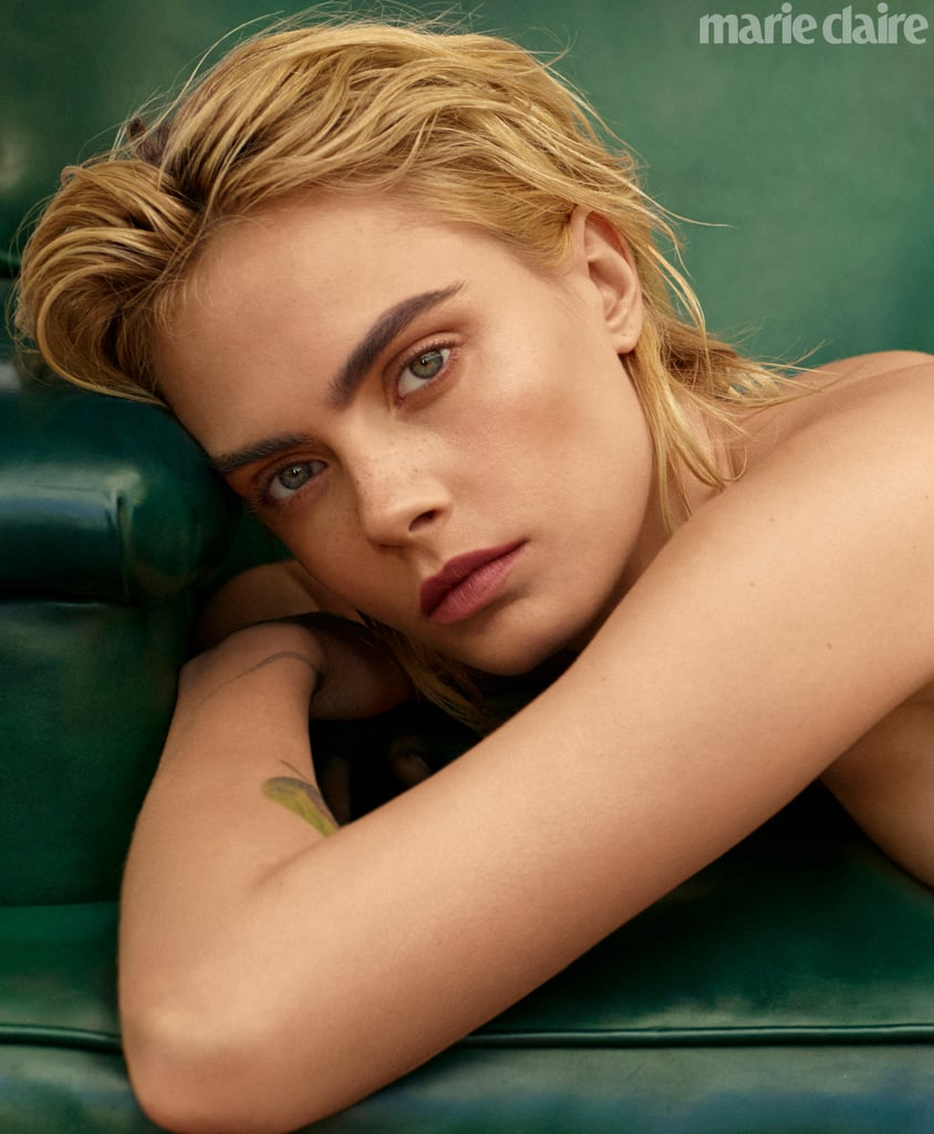 Cara Delevingne is Baring Everything on the Cover of Marie Claire — Freckles Included