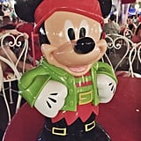 There is also plenty of cute holiday merchandise, like this Mickey popcorn container.