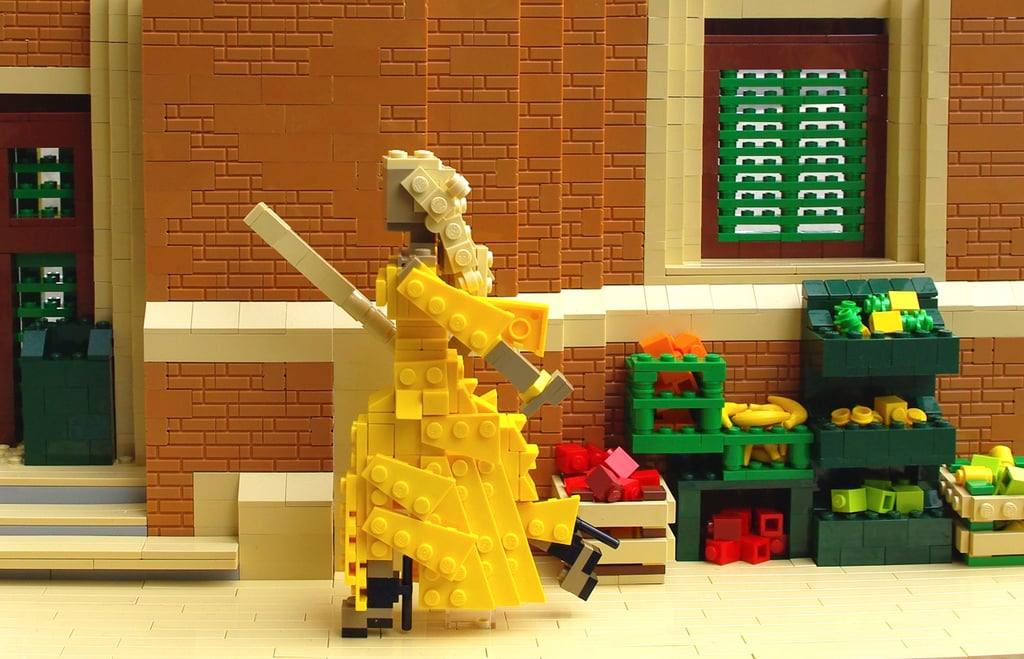 """While it feels like everyone in the world is still collectively processing and theorizing the cultural phenomenon of Beyoncé's visual album, Lemonade, it's also become apparent that those processes manifest themselves in different ways — like in Legos. Veronica Watson is a model builder at the Legoland Discovery Center in Westchester, NY. Though she graduated from New York University in 2014, she's already garnered a lot of attention for her impressive Lego renderings of paintings and famous celebrities. When Watson found herself feeling inspired by Lemonade, she decided to reconstruct some of her favorite scenes using those tiny plastic blocks. """"I really love the album — I haven't stopped listening to it since its release — and the visuals are really stunning and memorable,"""" she said to us in an email. """"Beyoncé really creates a performance and a visual experience that is integral to the music."""" Watson spent two weekends working on building out familiar scenes for the songs """"Hold Up,"""" """"Formation,"""" and """"Don't Hurt Yourself,"""" though she admits that the already iconic yellow dress in """"Hold Up"""" made it her favorite one to work on. Look ahead for images of Watson's incredible models alongside the actual shots from Lemonade."""