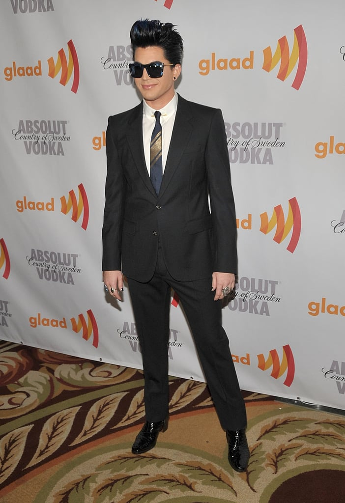 Pictures of Drew Barrymore, Adam Lambert and the Cast of Glee at the 2010 GLAAD Media Awards 2010-04-19 17:30:48