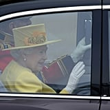 The Queen Arrives at the Royal Wedding