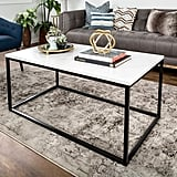 Walker Edison White-Faux Marble Coffee Table