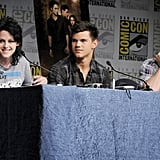 Kristen Stewart got animated during a panel discussion in 2009.