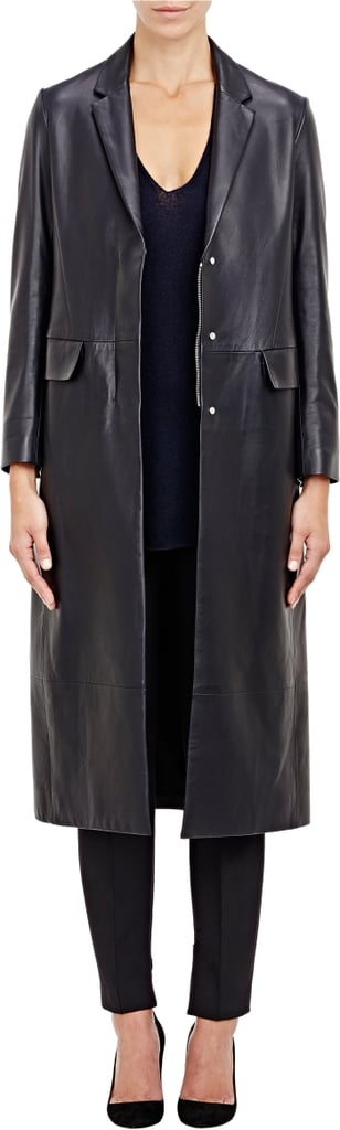 The Row Leather Trackson Coat-Colorless ($4,890)