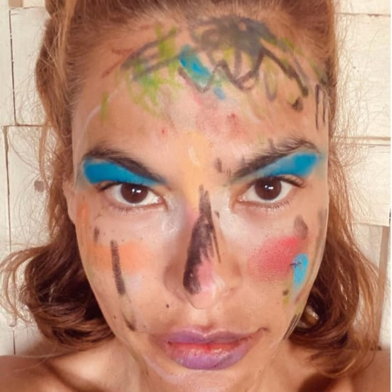 Eva Mendes and Ryan Gosling's Daughters Do Her Makeup