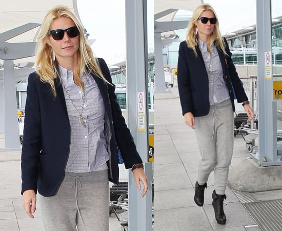 Pictures of Gwyneth Paltrow Flying From London to LA For Stand Up to Cancer