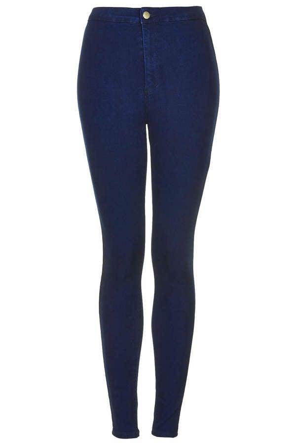 Topshop Moto intense blue joni jeans ($65)
