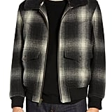 Frye Shadow Plaid Bomber Jacket