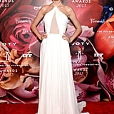 Embodying an ethereal angel, Taylor Swift floated down the 2013 Fragrance Foundation Awards' red carpet in a frothy Emilio Pucci gown