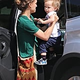 Natalie Portman spent time with her son, Aleph, in LA ahead of Mother's Day.
