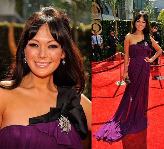 Photo of Lindsay Price on the Emmy Awards Red Carpet