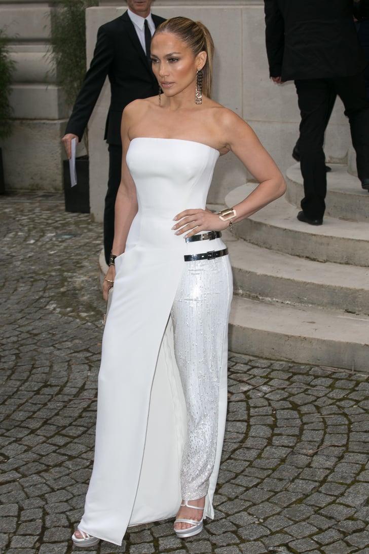 Jennifer Lopez White Dress Pictures Popsugar Fashion Uk