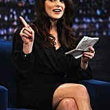 Ashley Greene read notes on Late Night with Jimmy Fallon.
