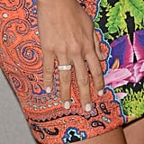For her nails, Ashley Tisdale opted for a simple, clean beige hue.