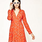 Rolla's Long Sleeve Dancer Wrap Dress Flame Galaxy, $159.95
