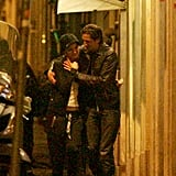 Adrien Brody and girlfriend Lara Lieto walked together in Rome.