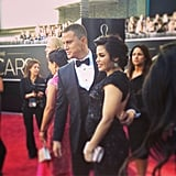 Jenna Dewan Tatum showed off her baby bump in Rachel Roy. Source: Instagram user theacademy