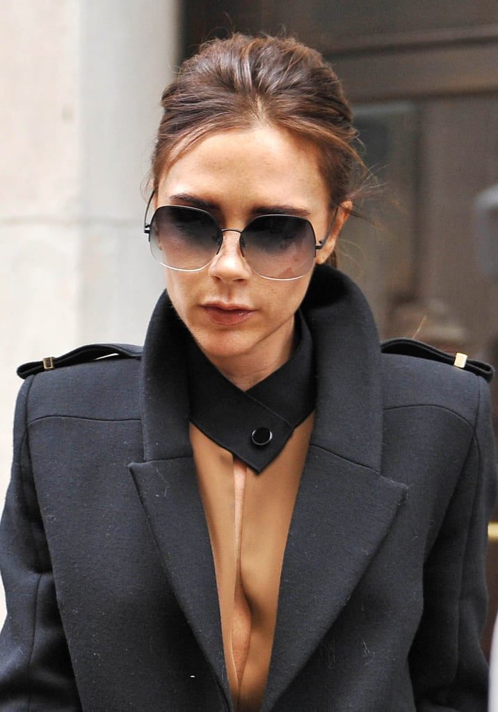 Faded Lenses That Mimic the Colorblock Detail of Her Look