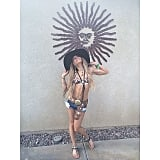 Vanessa Hudgens showed off her skimpy Coachella look. Source: Instagram user vanessahudgens