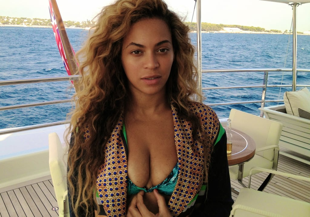 Beyoncé lounged in a bikini on a boat. Source: Tumblr user Beyonce Knowles