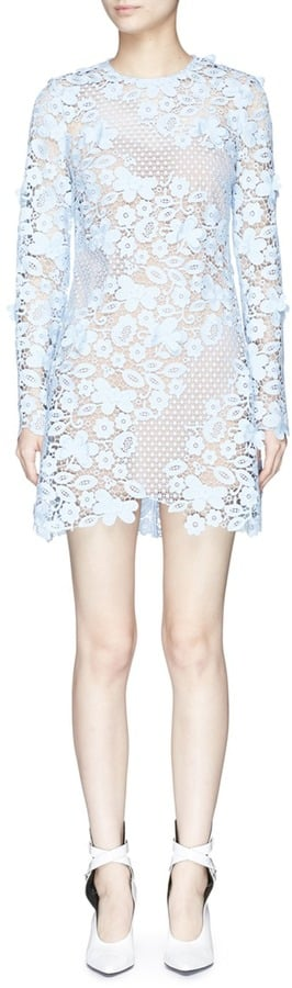 Self-Portrait 3D Floral Guipure Lace Mini Dress