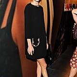 Alexa Chung wore Miu Miu at the Catherine Martin and Miuccia Prada Dress Gatsby opening cocktail party in New York. Source: Billy Farrell/BFAnyc.com