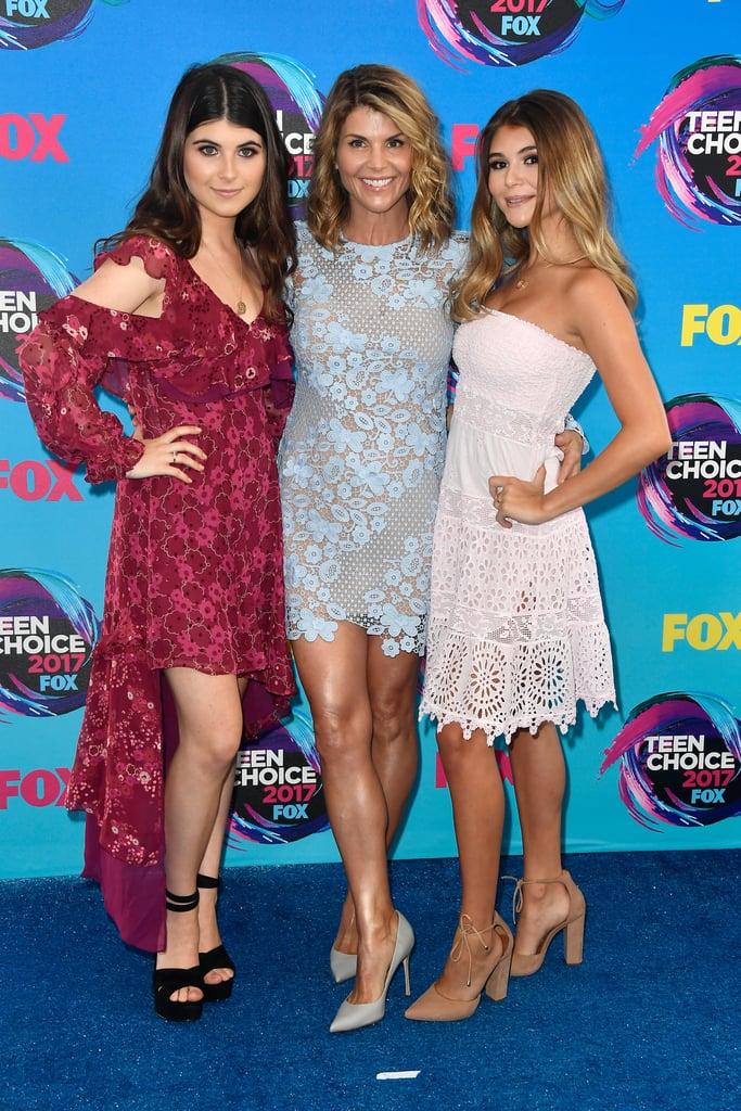 Lori Loughlin and Her Daughters at 2017 Teen Choice Awards ...