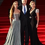 Kate Winslet, James Cameron, and his wife got together at the Titanic 3D world premiere in London.