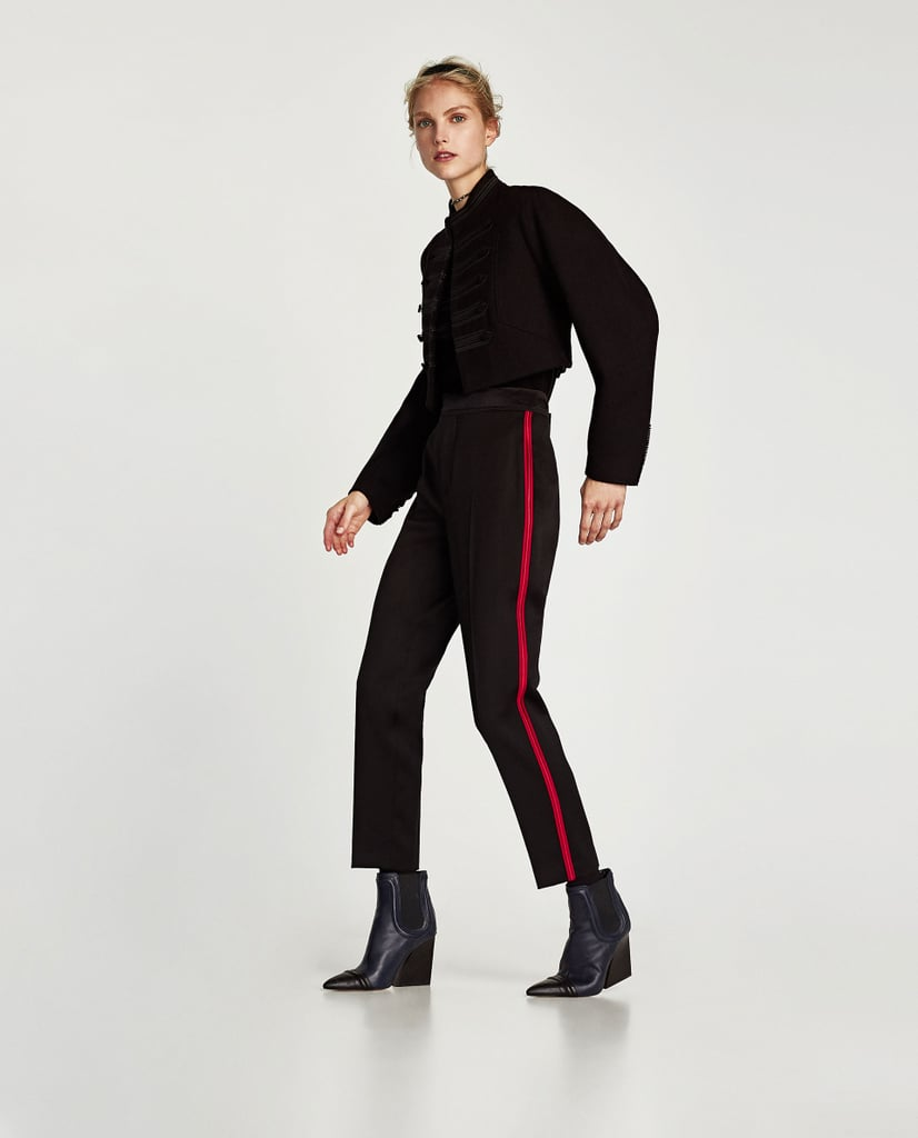 Zara Trousers With Side Stripe