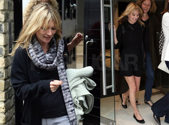 Kate Moss Wears Jamie Hince's Scarf As She Heads to the Country