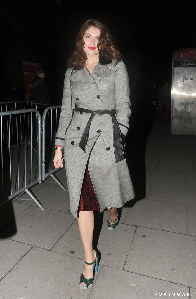 Gemma Arterton arrived at the Justin Timberlake concert in London following the Brit Awards.