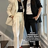 Megan and Sue wore chic jacket-and-trouser combos paired with Fear of God T-shirts to honour George Floyd. Megan also wore Off-White sneakers, while Sue wore Jordans designed by Wilson Smith, the first Black designer in sneaker history.