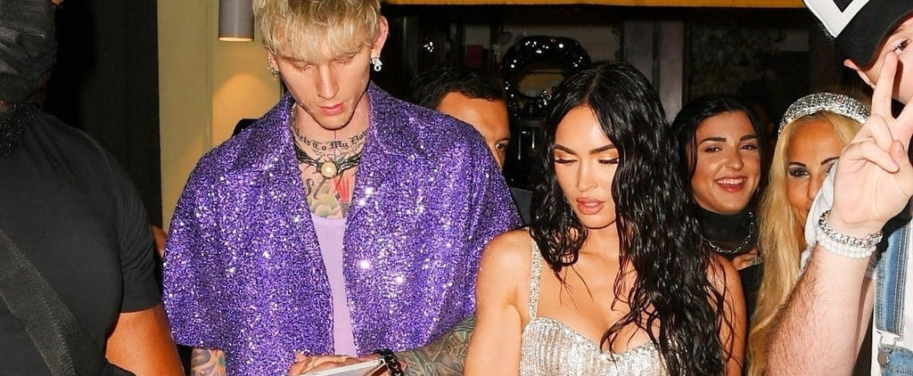 See Megan Fox's Silver Sequined Minidress After the MTV VMAs