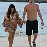 Channing Tatum went shirtless to hit the beach with Jenna Dewan at Atlantis in July 2007.