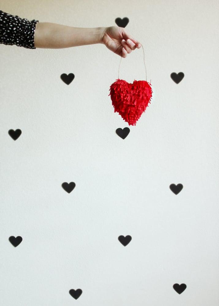 DIY Fringe Heart